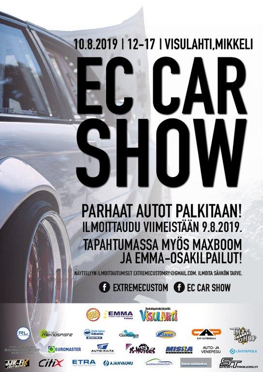 EC Car Show -19 10.8.2019 klo 12-17 Visulahti, Mikkeli EC2019_A4